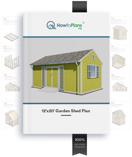 12x20 diy garden shed plan product