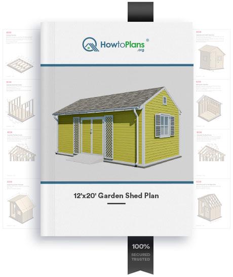 12x20 diy garden shed plan product