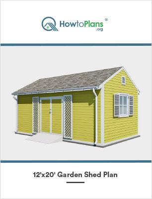 12x20 diy garden shed plan