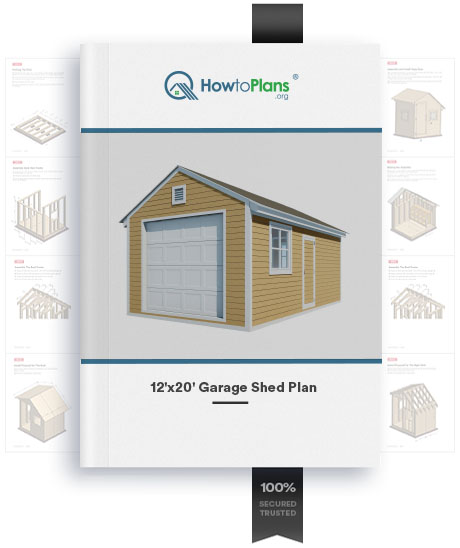 12x20 gable garage shed plan