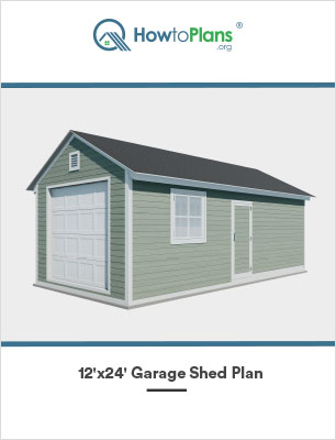 12x24 gable garage shed plan