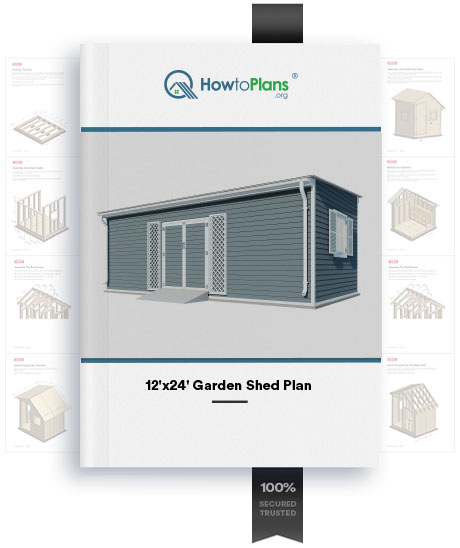 12x24 lean to garden shed plan product