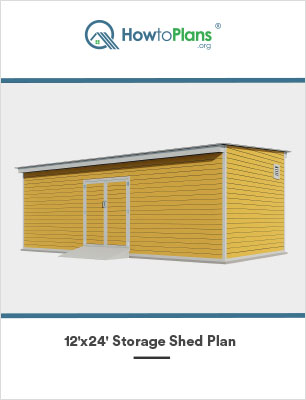 12x24 lean to storage shed plan