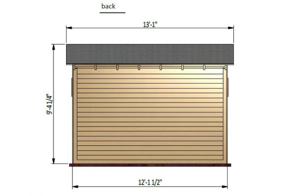 12x6 lean to garden shed back side preview