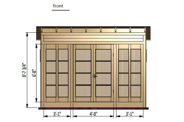 12x6 lean to garden shed front side preview