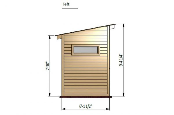 12x6 lean to garden shed left side preview