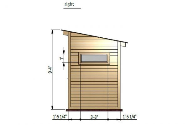 12x6 lean to garden shed right side preview