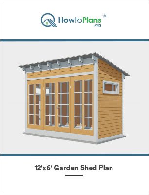 12x6 lean to garden shed plan