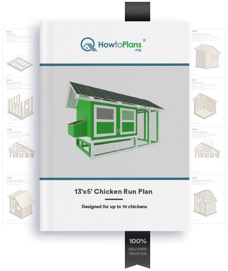 13x5 chicken run plan product