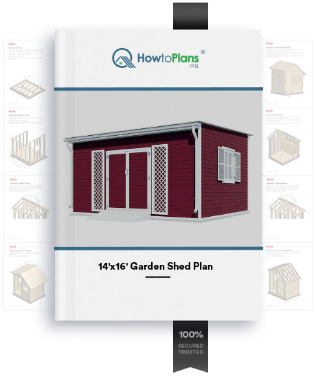 14x16 lean to garden shed plan product