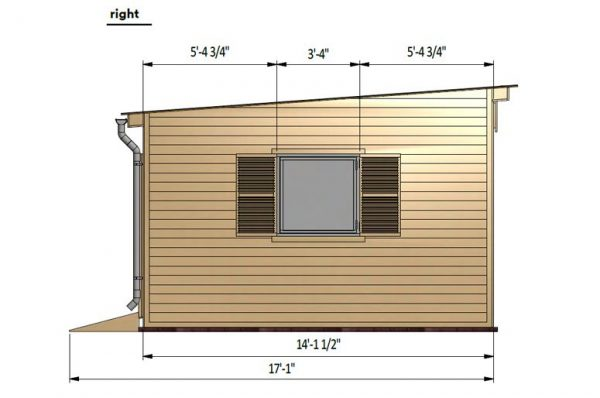14x16 lean to garden shed right side preview