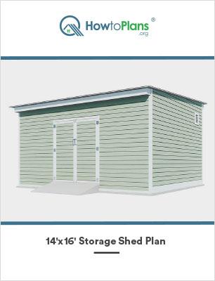 14x16 lean to storage shed plan