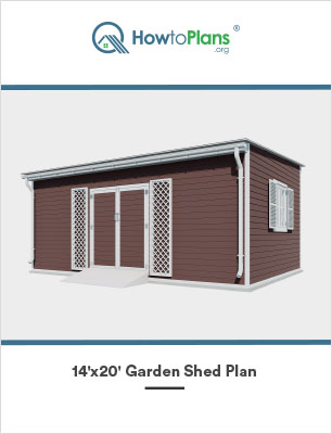 14x20 lean to garden shed plan