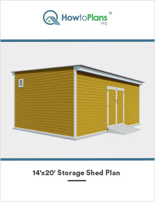 14x20 lean to storage shed plan2