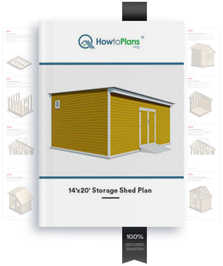 14x20 lean to storage shed plan product