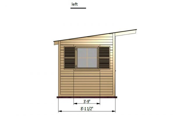 14x8 gable garden shed left side preview