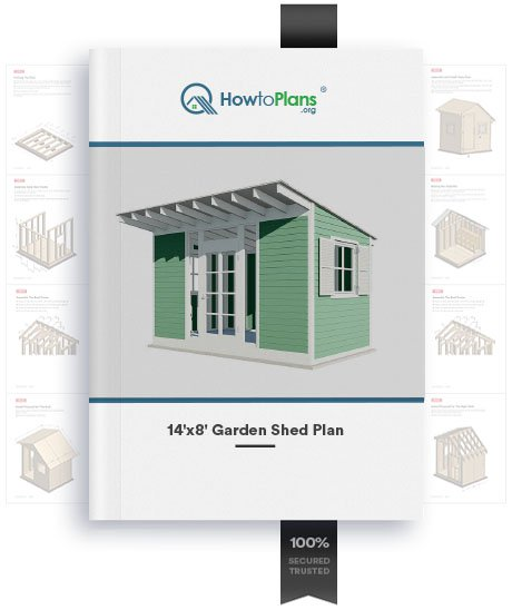 14x8 gable garden shed plan product