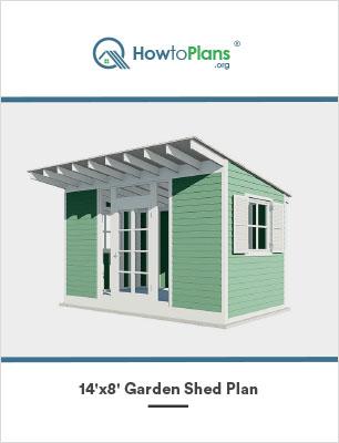 14x8 gable garden shed plan