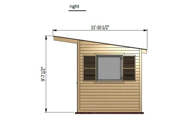 14x8 gable garden shed right side preview