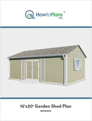 16x20 gable garden shed plan