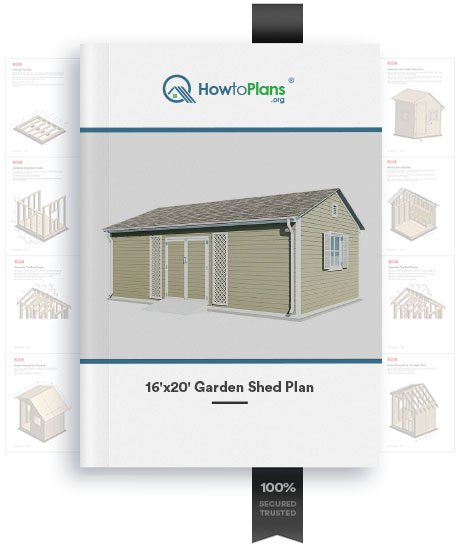 16x20 gable garden shed plan product