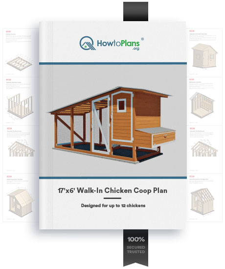 17x6 walk in chicken coop plan product