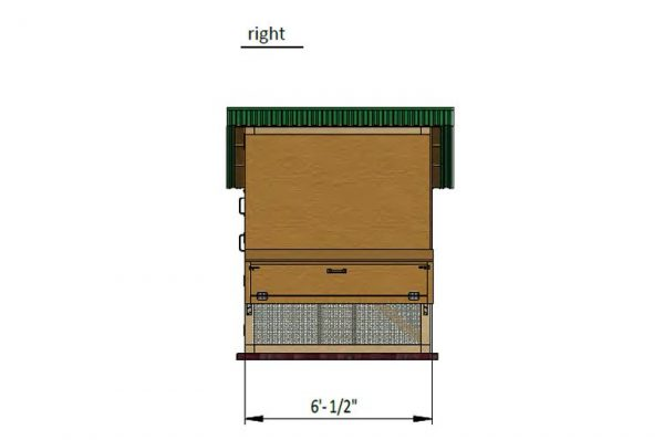 17x6 walk in chicken coop right side preview