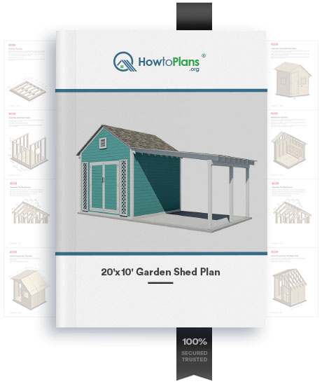 20x10 gable garden shed plan product