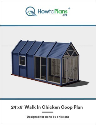 24x8 walk in chicken coop plan