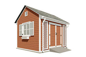 10x12 gable garden shed