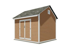 10x12 gable storage shed