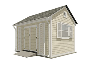 10x14 gable garden shed