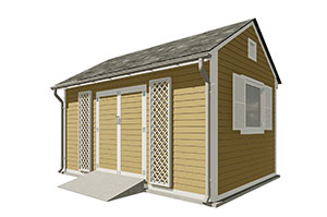 10x16 gable garden shed