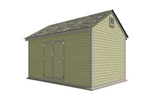 10x16 gable storage shed