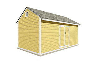 10x20 gable storage shed