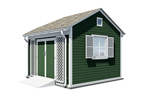 12x12 gable garden shed