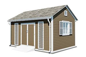 12x16 gable garden shed
