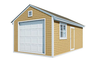 12x20 gable garage shed