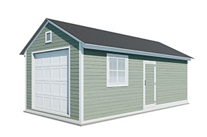12x24 gable garage shed