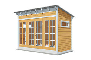 12x6 lean to garden shed
