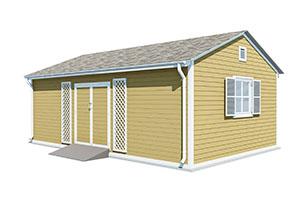 16x24 gable garden shed