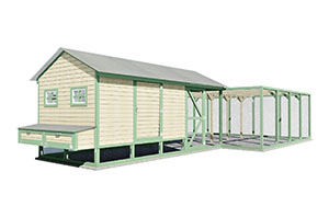 39x19 chicken coop for 50 chickens