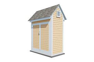 4x6 gable storage shed