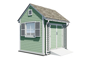 300x199 8x10 gable garden shed