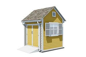 8x8 gable garden shed