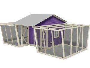 30x15 walk in chicken coop