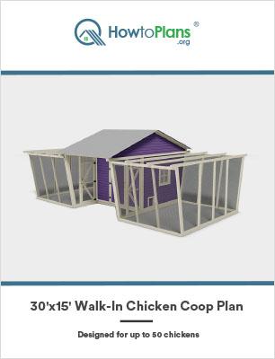 30x15 walk in chicken coop plan