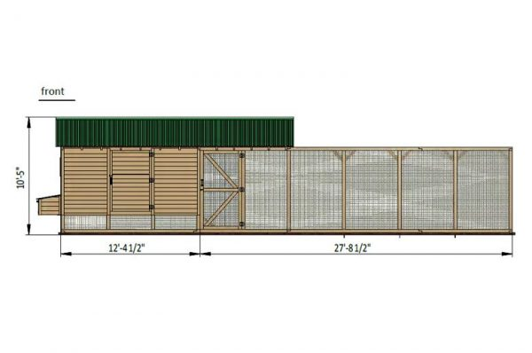 39x19 chicken run front side preview