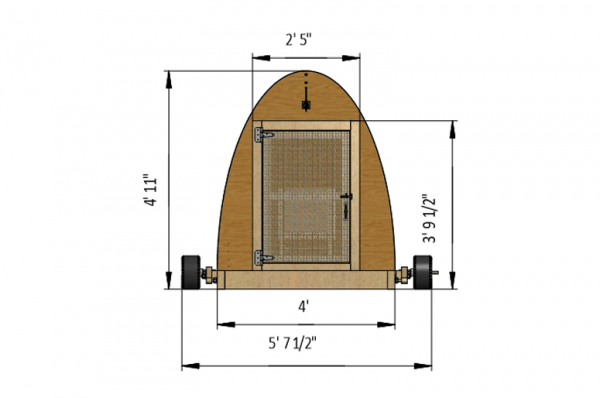 4x12 chicken tractor front side preview
