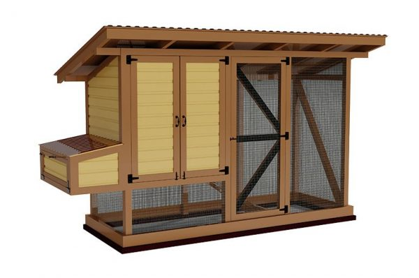 4x12 walk in chicken coop